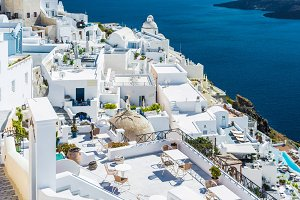 Beautiful Thira, Santorini, Greece