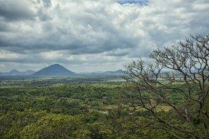 View on landscape near Dambulla
