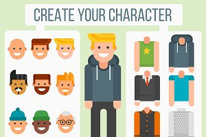 Character elements creator vector