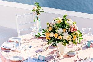 Wedding decorations, Santorini