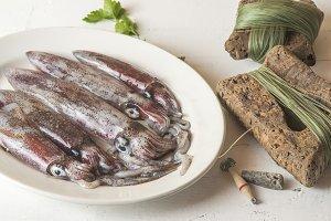 Fresh cuttlefish recently