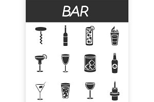 Bar icons set