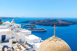 Travel destination Santorini