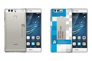 Huawei P9 TPU Clear Case Mockup