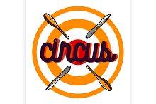 Color vintage circus emblem