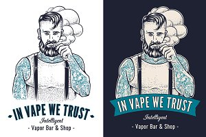 Vaping Hipster Art