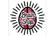 vintage scientific shops emblem