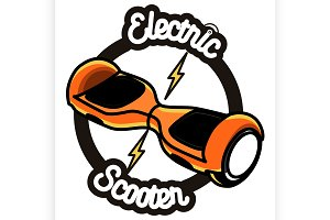 Electric Scooter emblem