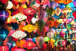 Pepper lanterns in Hoi An, Vietnam