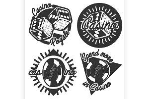 Vintage casino emblems