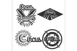 Vintage circus emblems