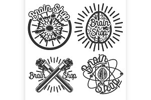 Vintage scientific shops emblems