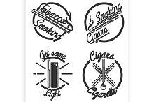 Vintage smoking emblems