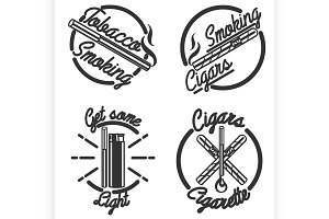 Vintage smoking emblems
