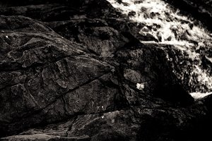 Water on a rock
