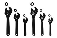 Mechanical wrenches. Vector