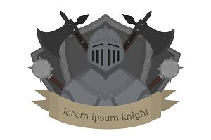 Medieval knight logo. Vector
