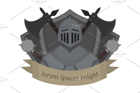 Medieval knight logo. Vector - Illustrations