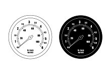Pressure gauge bar icon. Vector
