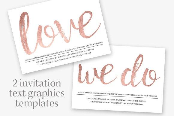 Rose gold wedding invitation templates creative market stopboris Gallery