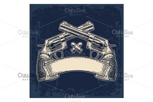 Hand hold revolver and bullets