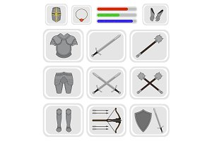 Game inventory. Vector