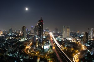 City panorama of Bangkok