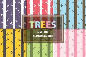 Tree Wood seamless pattern
