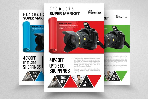 Product Promotion Flyer & Ad ~ Flyer Templates ~ Creative Market