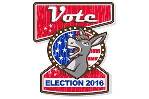 Vote Election 2016 Democrat Donkey