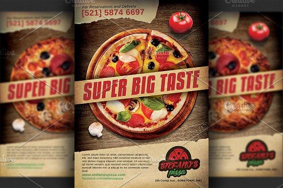pizza restaurant advertising flyer flyer templates creative market