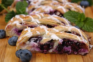 Pie  with blueberry
