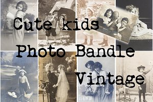 Vintage kids photo bandle