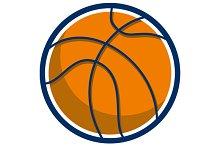 Basketball Ball Isolated Retro