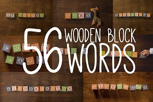 56 Words Spelled In Blocks