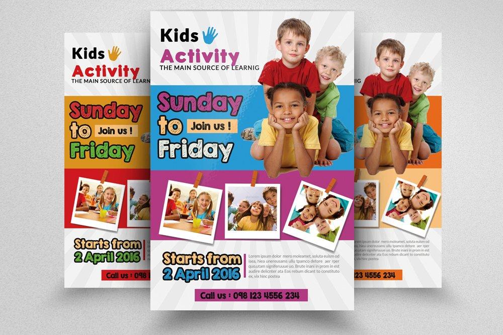 kids activity flyer templates flyer templates creative