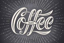 Coffee. Hand-drawn lettering
