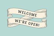 Welcome, we're open!