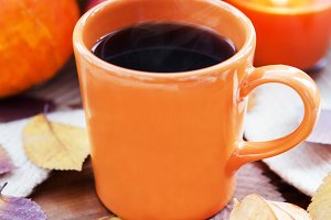 Orange coffee cup