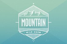 Label related to mountain theme