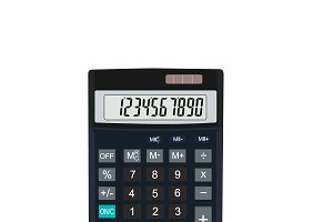 calculator, vector illustration