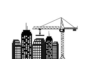 construction icon, vector