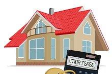 mortgage concept, calculator