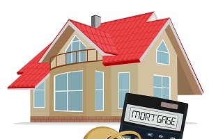 mortgage concept, calculator