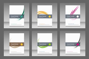Abstract line brochure design Vol.2