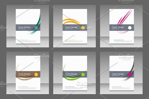 Abstract line brochure design Vol.2 - Brochures