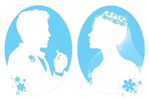 Bride & Groom Illustrations