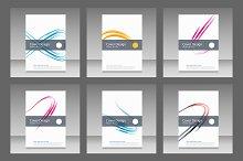 Abstract line brochure design Vol.3