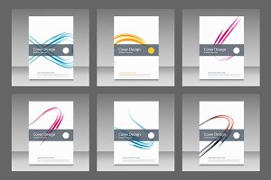 Abstract line brochure design Vol.3