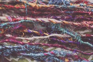 Colorful Yarn Background